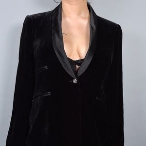 Black Velvet & Silk Zara Blazer